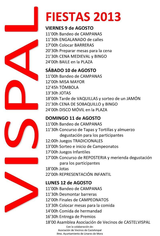 Fiestas Vispal 2013